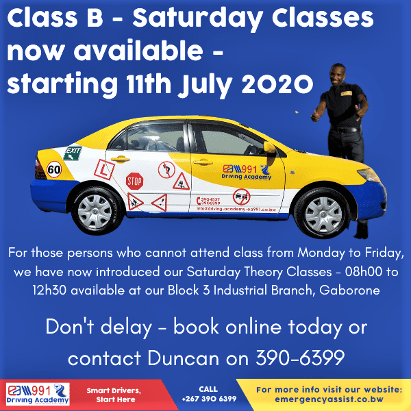 Saturday Theory Classes for Class B Learner Licence now available