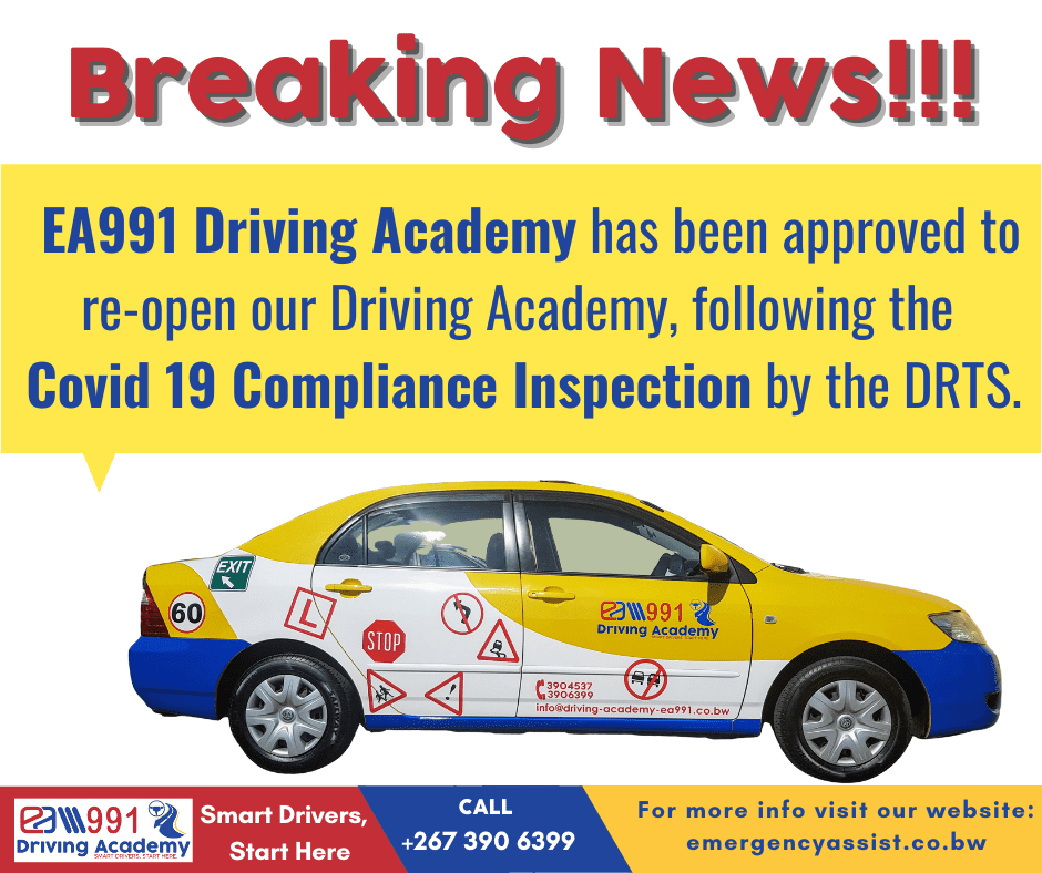 We are proud to advise that we have reopened, following the successful Covid19 Compliance Inspection by the DRTS of our Campus as well as our Practical Yard training facilities.