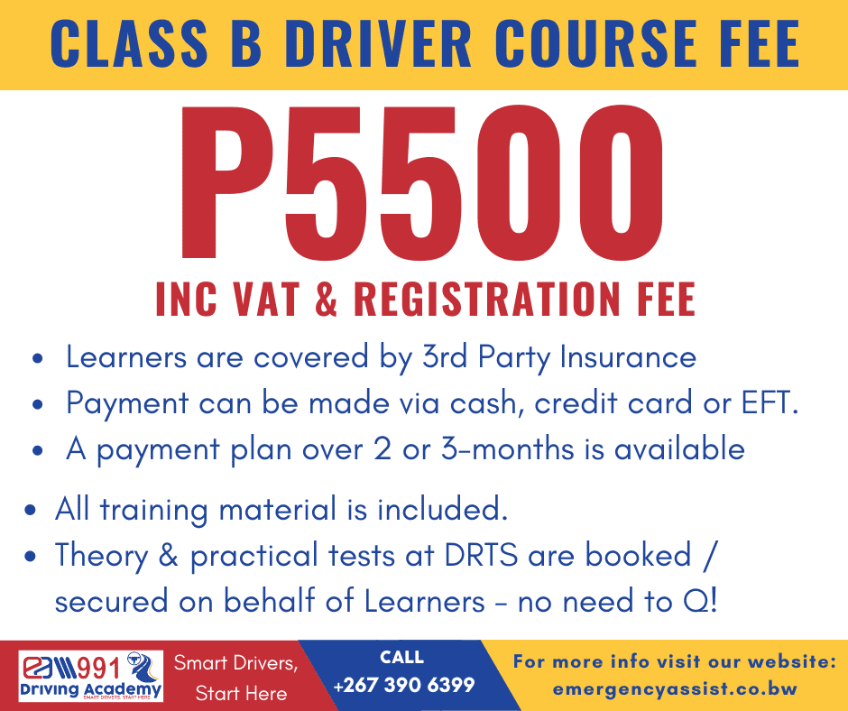 EA991 Driving Academy Class B Driver Training Course  costs